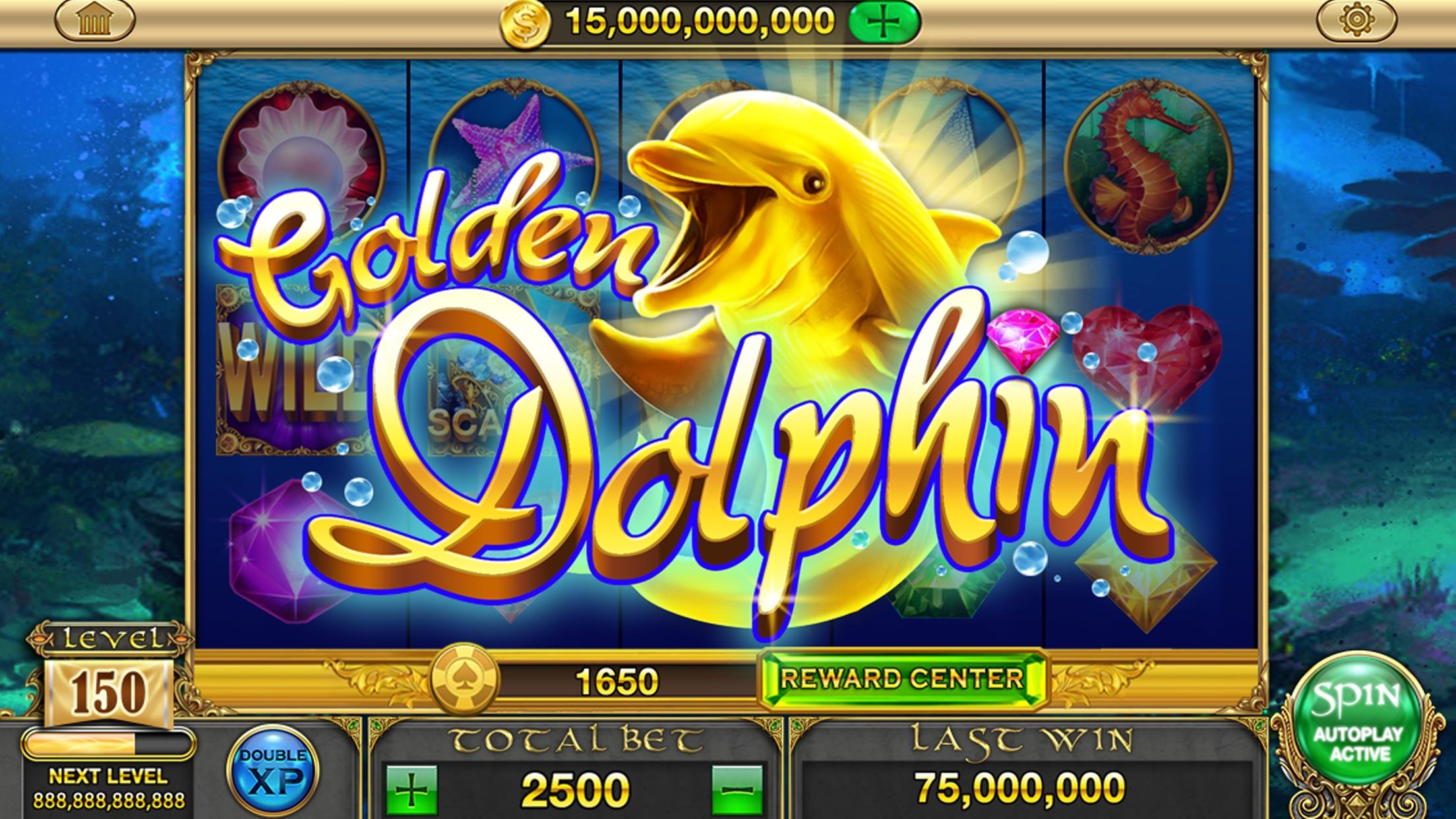 Gold Dolphin Casino Slots - Real Rewards Screenshot