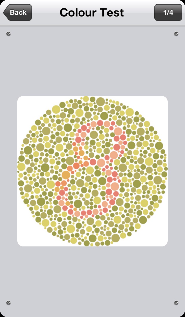 Vision Test Screenshot