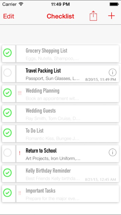 Simple Checklist - To Do List with Task Reminder