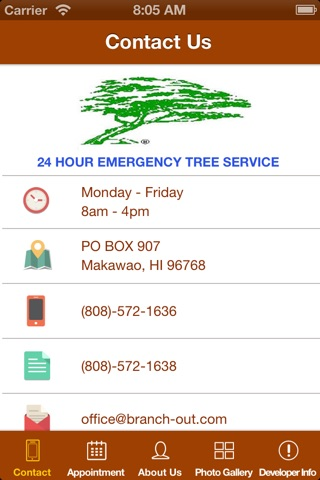 Screenshot of Branch Out Tree Service - Maui Hawaii - Tree Trimming, Removal and  Emergency Service