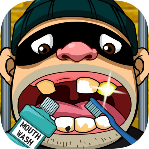 Criminal Dentist - Fun Tap game to clean prisoner teeth in jail