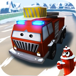 Little Fire Truck in Action - Driving Game With Cartoon Graphics for Kids