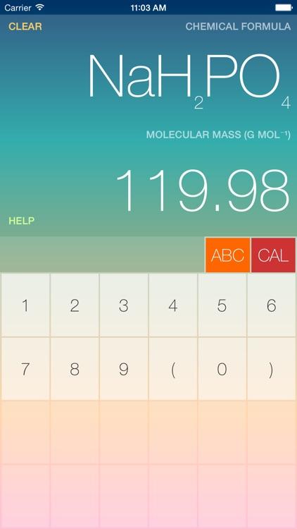 ChemCalc for Phone