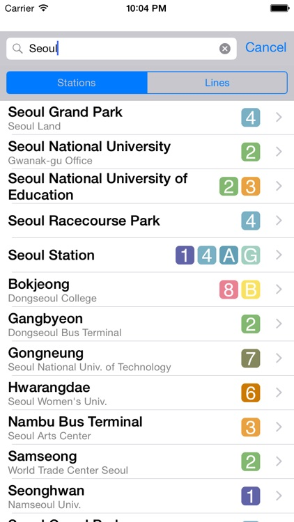 Seoul City Metro - Seoul, South Korean Subway Guide screenshot-3