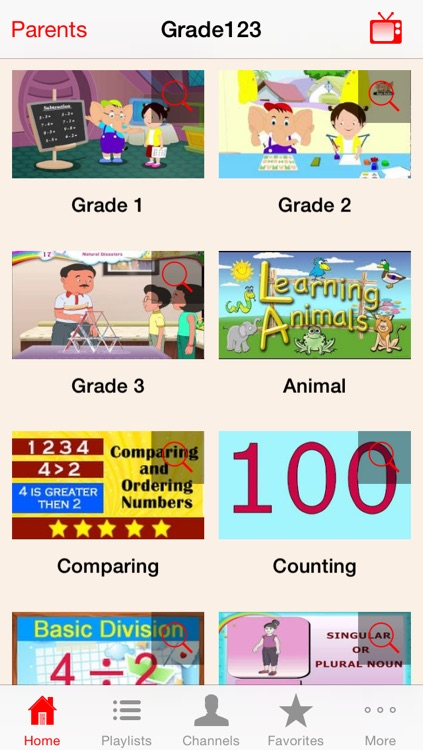 Grade123 - Kids Learning Video Library for 1st Grade, 2nd Grade and 3rd Grade