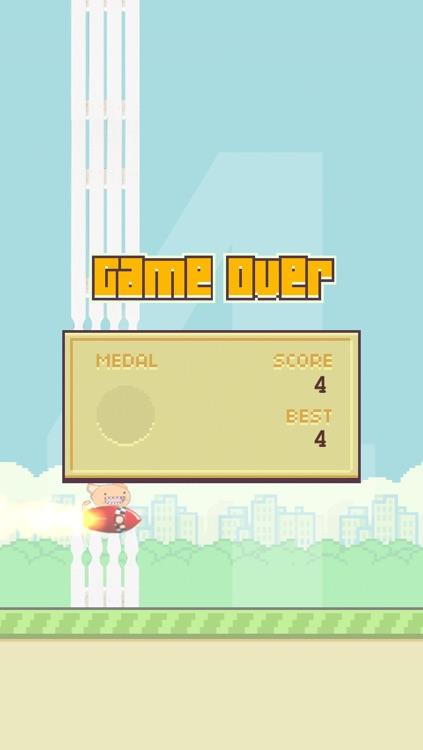 Flappy Rocket Cat - he's got a rocket to go after the bird! screenshot-4