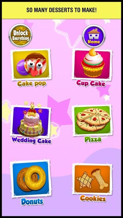 Cake Pop Ice Cream Maker - cupcake dessert mania food making cooking games for kids screenshot-3