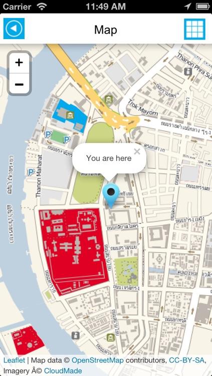 Bangkok offline map, guide & hotels