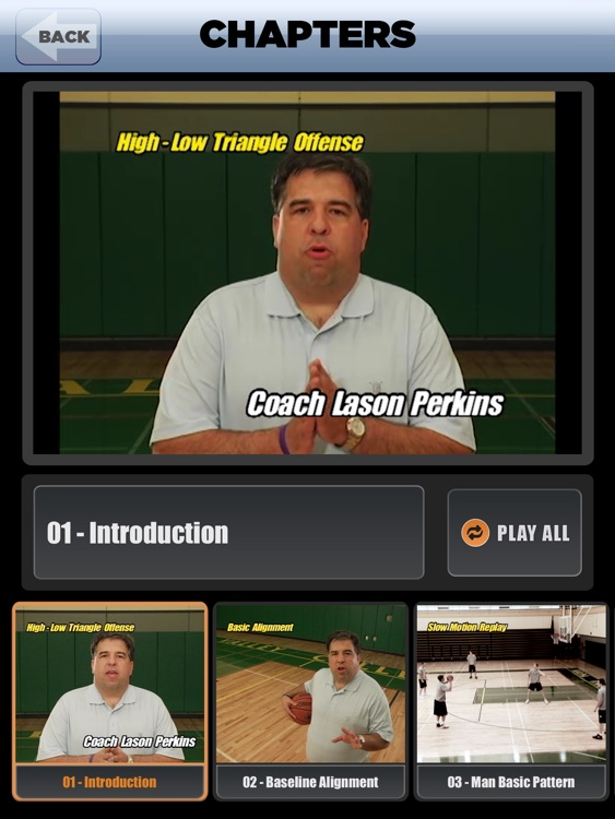 High-Low Triangle Offense: Attacking Man & Zone Defense - With Coach Lason Perkins - Full Court Basketball Training Instruction - XL screenshot-1