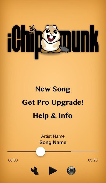iChipmunk - Chipmunkify your music!