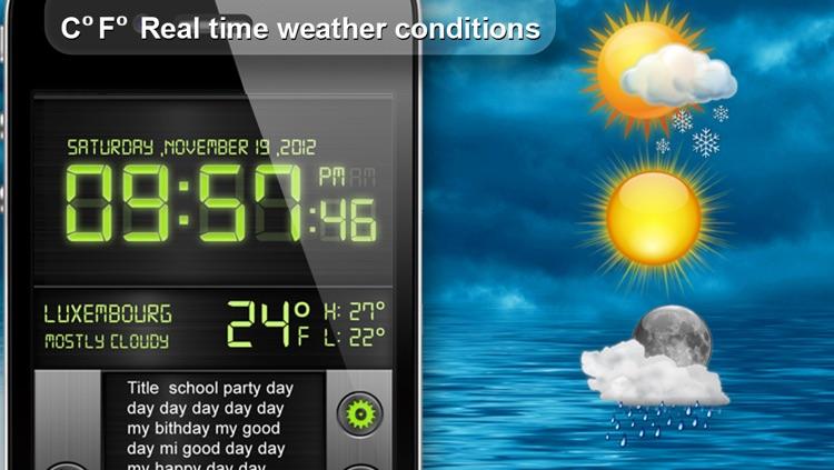 Cool Alarm Clock & Day Reminder screenshot-4