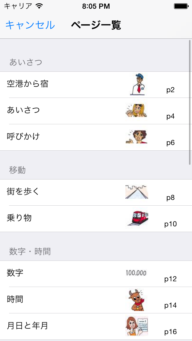 指さし会話スペイン touch&talk 【personal version】 ScreenShot3