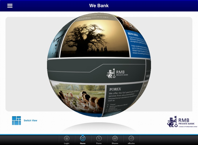RMB Private Bank App for Tablet