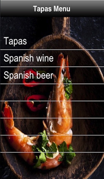 Tapas Menu screenshot-0