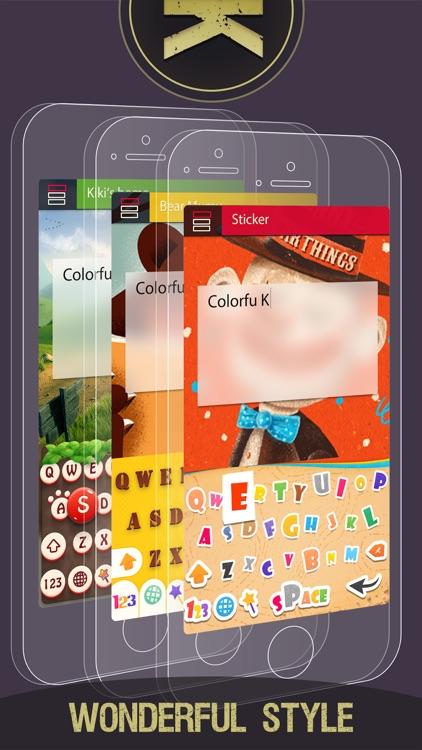 Colorful Keyboard Themes - Custom Keyboards Skins screenshot-3