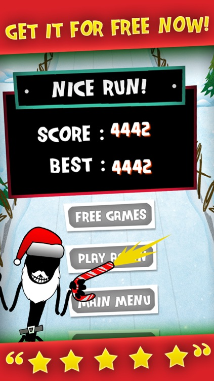 A Stickman Santa Stampede Christmas Reindeer Run Free Games for the Holidays! screenshot-4