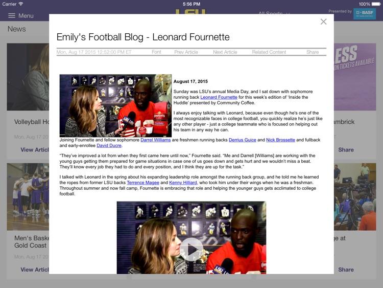 LSUsports Mobile Plus for iPad 2015