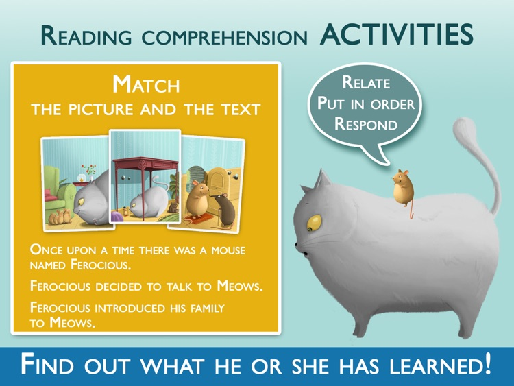 Teach me to read – Ferocius & Meows Cat, an Educational Montessori Tool with Activities and Books for Learn to Read