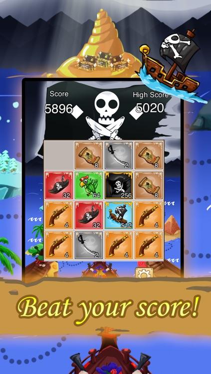2048: Pirate's Treasure Hunt FREE screenshot-3