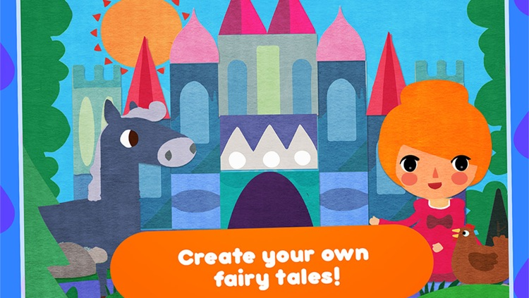 CreaShape Fairy Tales - children storytelling app - create your own princess classic  stories like Cinderella rapunzel snow white little mermaid screenshot-0