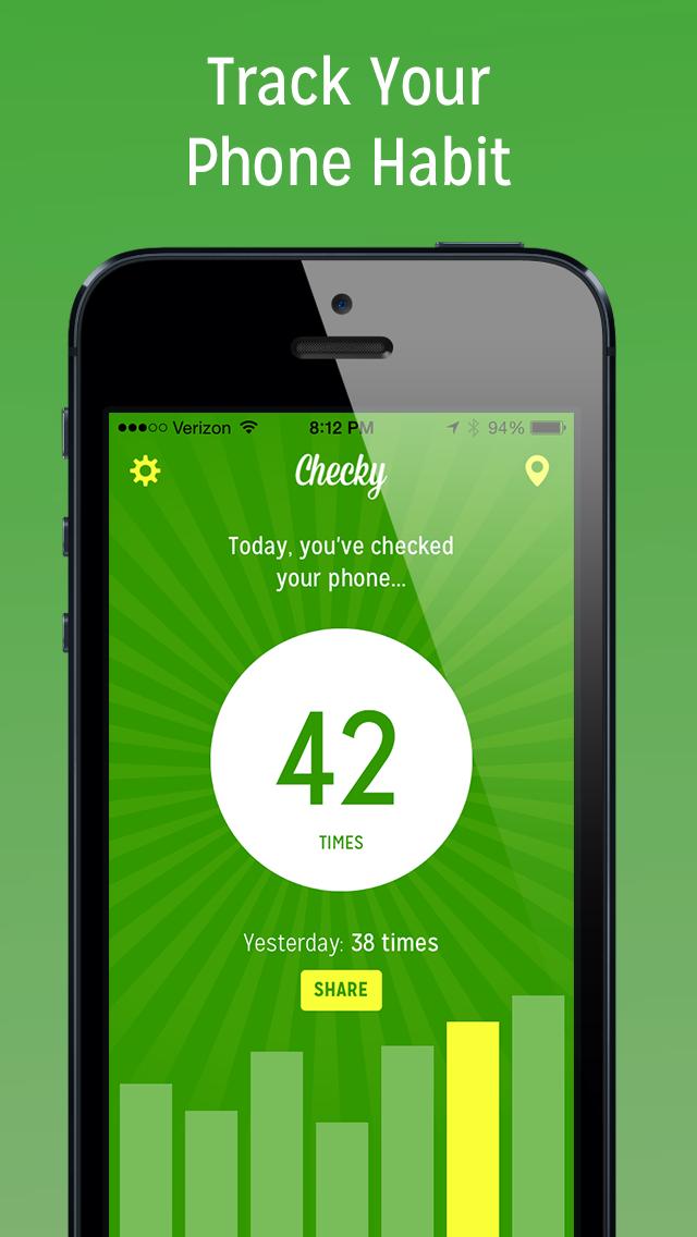 Checky - Phone Habit Tracker app image