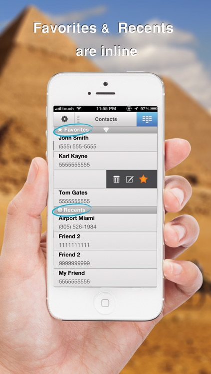 Swipe To iMessage or SMS - Tap to Call & Facetime - By ReachFast Contacts