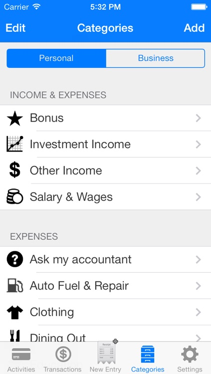 ez track personal business expense finance debt tracker app by ez