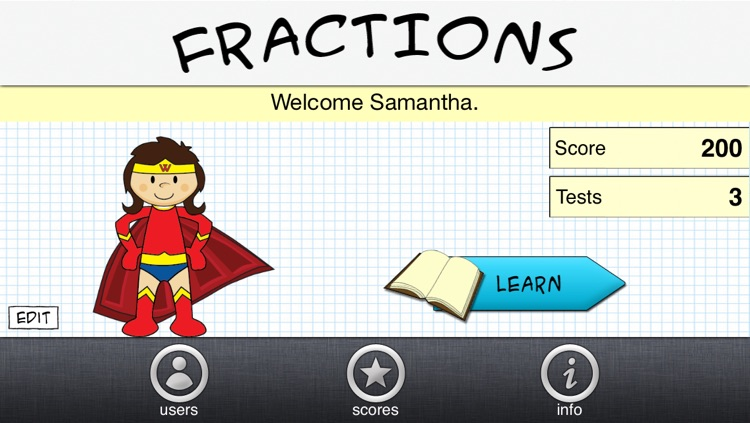 Fractions App By Tap To Learn