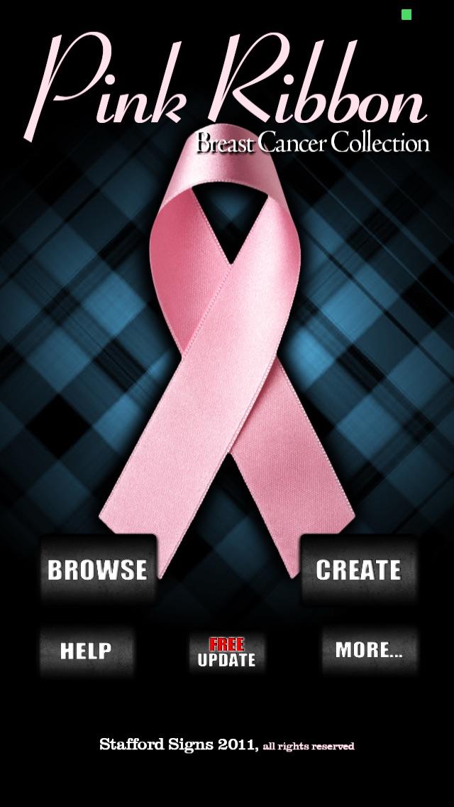 Screenshot 1 For Pink Ribbon Breast Cancer Wallpaper FREE