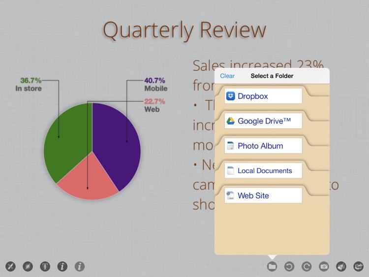 Whiteboard Projector - wireless presentation viewer & sketch board app