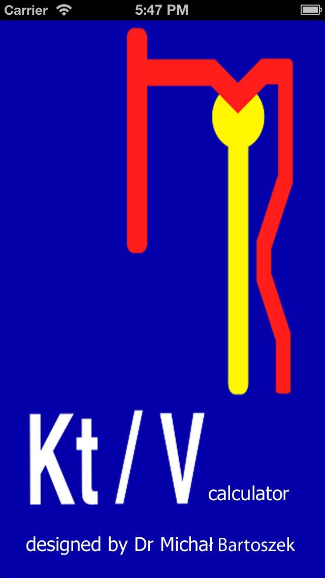 KtV calculator Screenshot 1