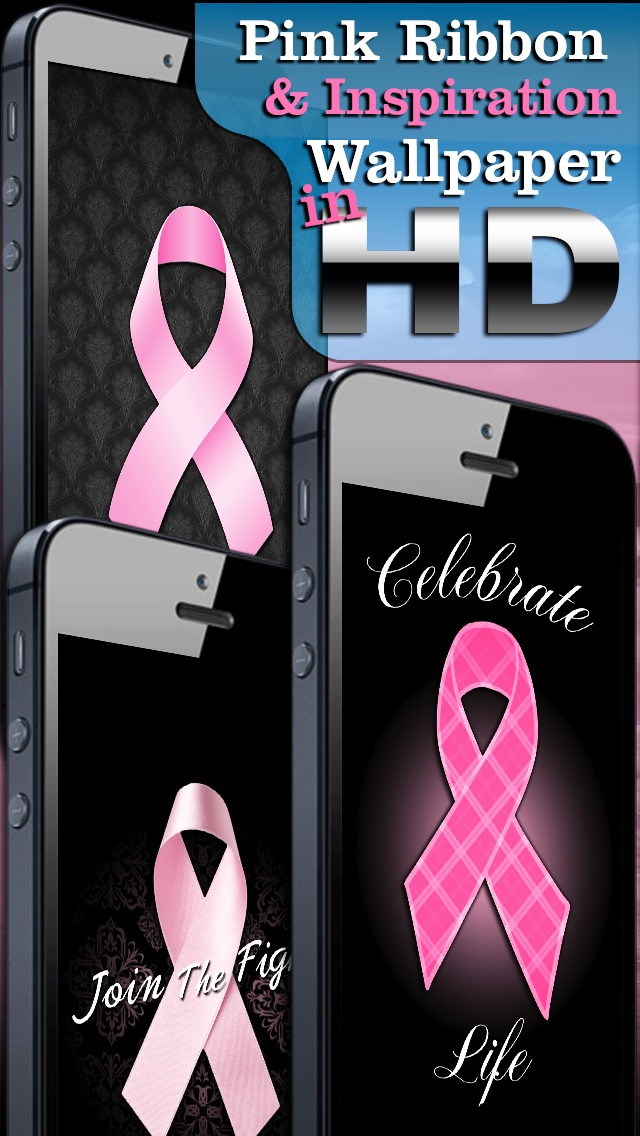 Backgrounds Screenshot 2 For Pink Ribbon Breast Cancer Wallpaper FREE