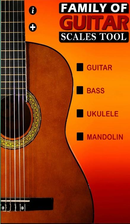 Guitar Family Scales (Guitar,Bass,Ukulele,Mandolin)