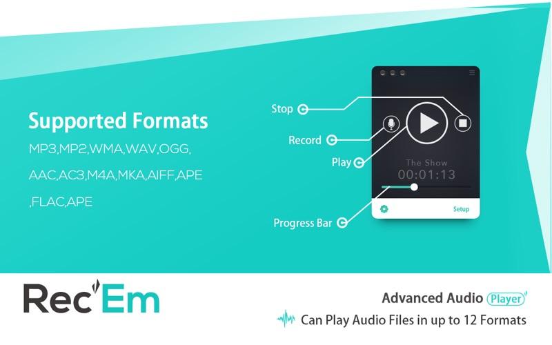 Rec'Em – Voice Recorder, Player, Manager & Distributor | App Price Drops