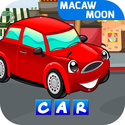 First Word Motors: Alphabet letters abc - Macaw Moon iOS App