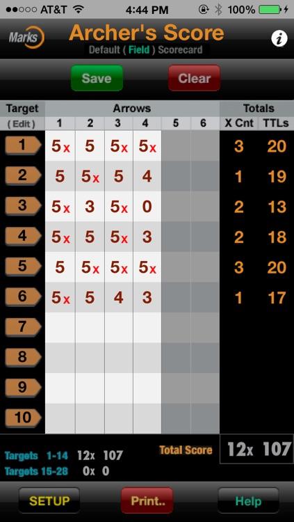 Archer's Score