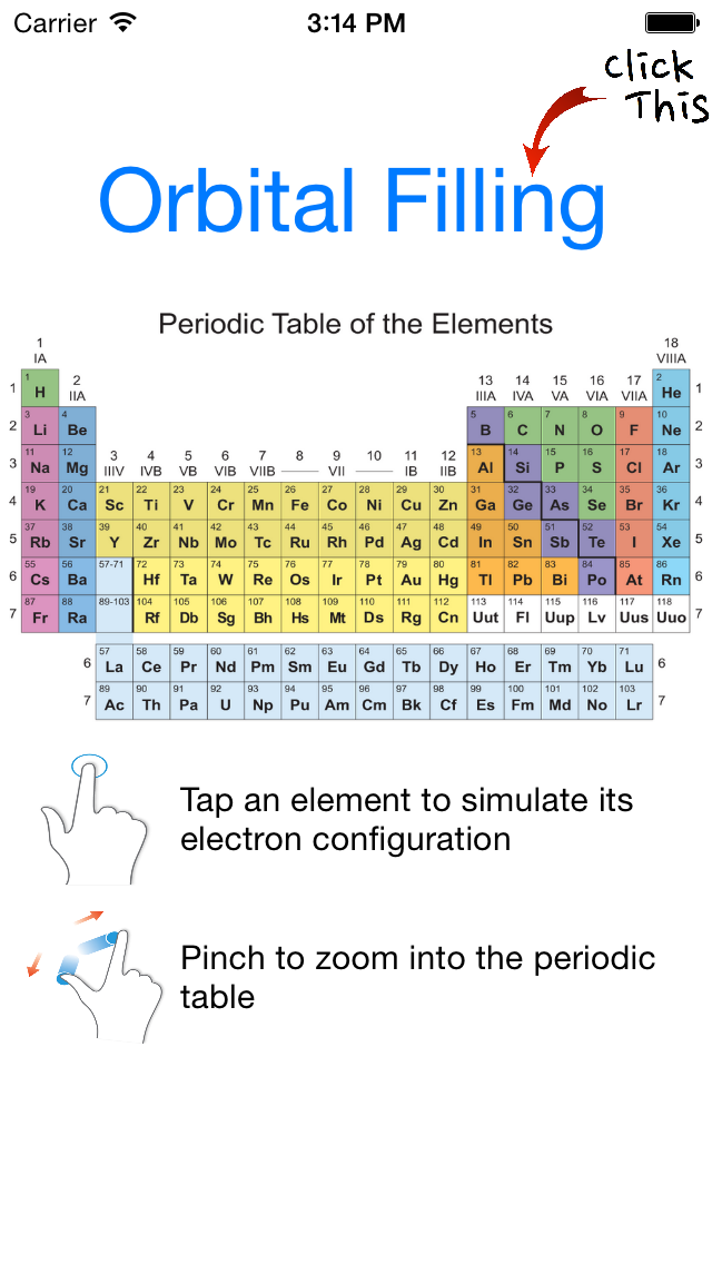 Orbital Filling for Chemistry Applications Free screenshot two