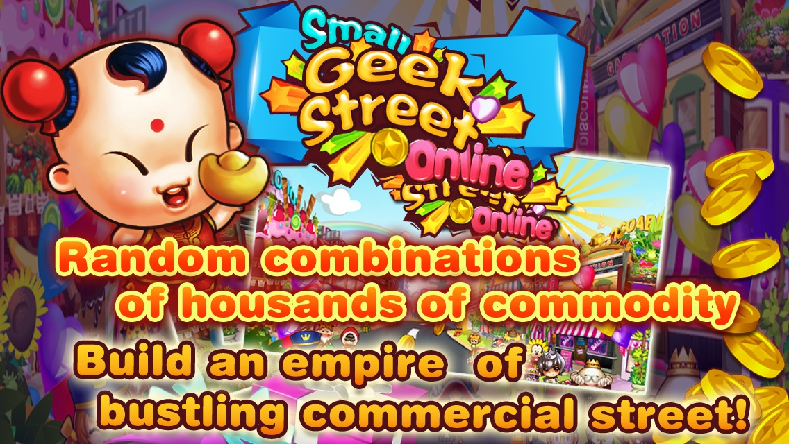Small Geek Street-Hot collecting puzzle tower defense RPG, modern kingdom, Hero defend Game Screenshot