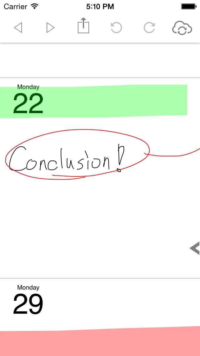 ポリカレンダー 2014 - スケジュールと手書き -のスクリーンショット3