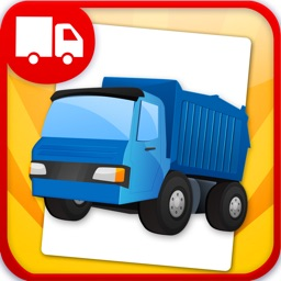 Trucks Flashcards  - Things That Go Preschool and Kindergarten Educational Sight Words and Sounds Adventure Game for Toddler Boys and Girls Kids Explorers