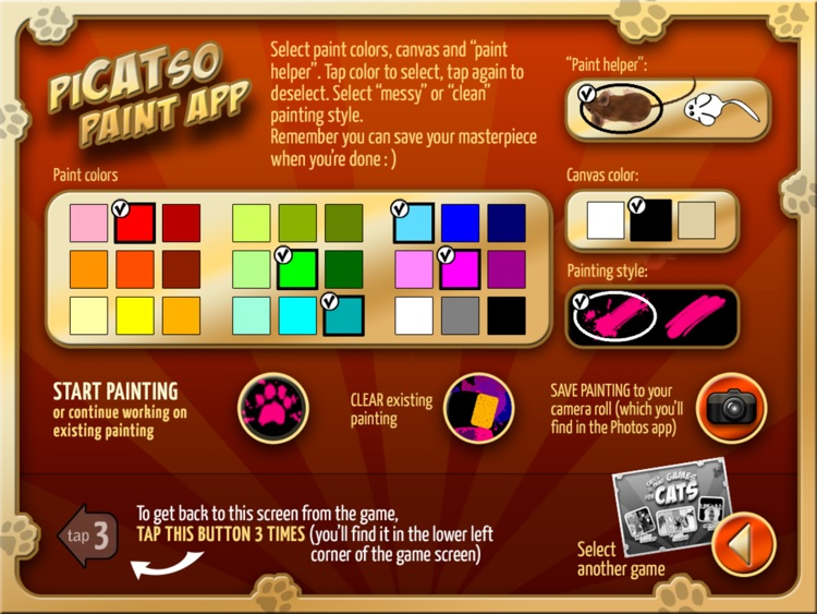 Catch and Paint Games for Cats screenshot-3