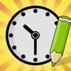 Actief! Kleurboek van de Klok Voor Kinderen: Leren Lezen van de Tijd Met Veel Oefeningen