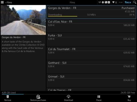 Tacx Cycling app screenshot four