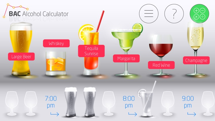 BAC Alcohol Calculator