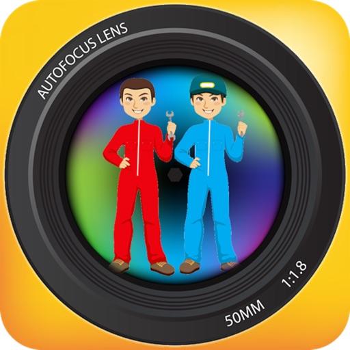 Twins Camera - Auto Stitch clone photos icon