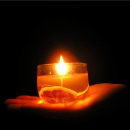 """!My Candles, with """"share"""" feature and collection of custom wicks and music."""