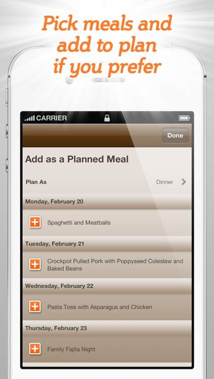 Spinning Meals Smart Meal Planner screenshot-4