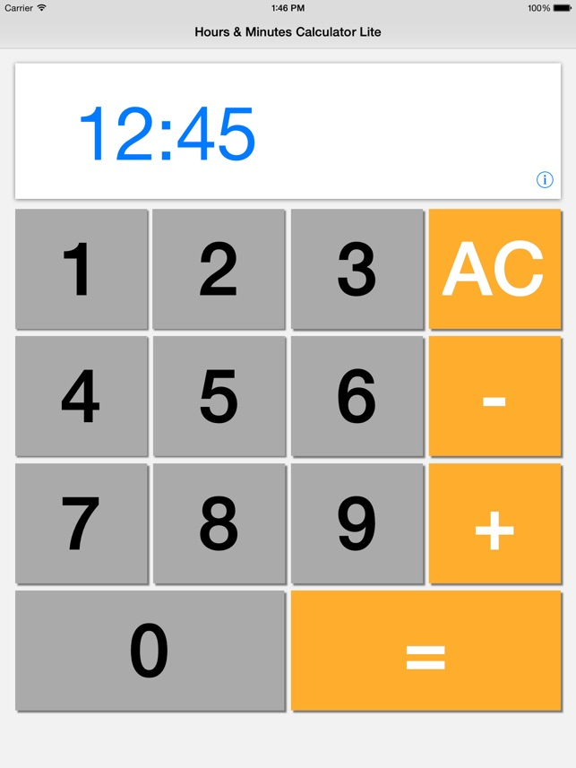 Hours Minutes Calculator Lite On The
