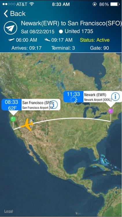 San Francisco Airport (SFO) Flight Tracker