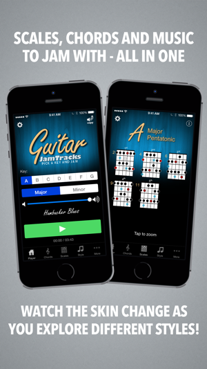 ‎Guitar Jam Tracks - Scale Trainer & Practice Buddy Screenshot